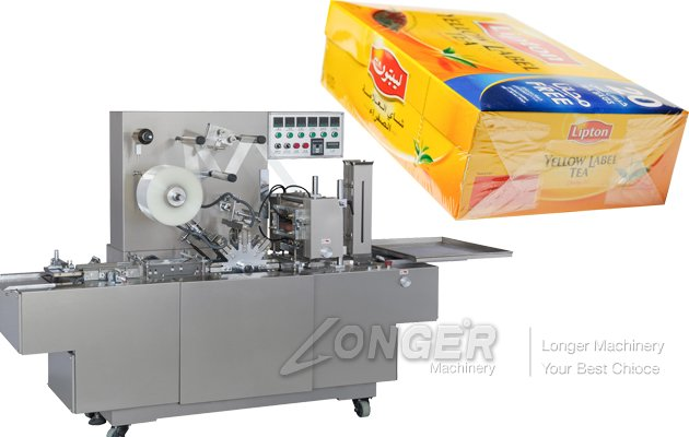High Speed Automatic Perfume Box Cellophane Wrapping Machine